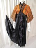 1980's Vintage ZANDRA RHODES gold and black kimono coat/dress **SOLD**